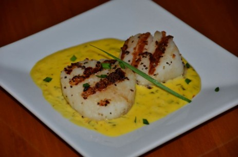 Scallops with Saffron Cream Sauce